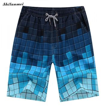 Casual Men Capri Pants Short Masculino Colorful Bermuda Masculina Summer Beach Plus Size Drawstring Male Elastic Waist Shorts