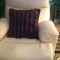 Brown Faux Throw Pillow (Free Shipping)