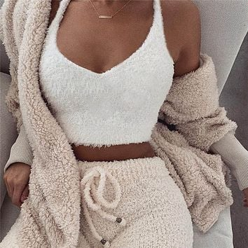 2019 Summer Women Crop Tops Sexy V-Neck Sleeveless Short Vest Solid Casual Tight Tank Tops Ladies Camisole Crop Top