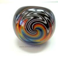 Glass Pipe, Rainbow Reversal Wig Wag Pipe by Ed DuBick, Boro Ballers, Hand Blown Glass Pipes, READY to SHIP, Cgge Team