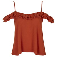 Cold Shoulder Frill Strap Top - Date Night - We Love