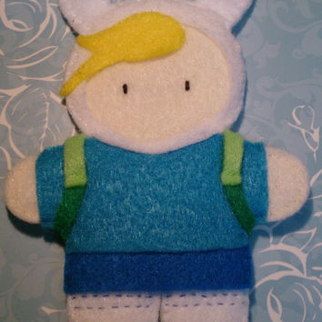 Fionna the Human - Handmade, stuffed felt plush.