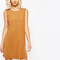 Vero Moda | Vero Moda Suedette Wrap Shift Dress at ASOS