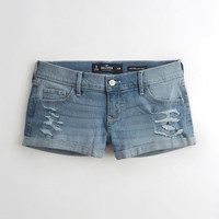 Girls Stretch Low-Rise Denim Short-Shorts | Girls Bottoms | HollisterCo.com