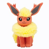 Pokémon Center Original Plush Doll Sitting Trick Pose Flareon