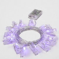 Purple LED Photo Clip String Lights