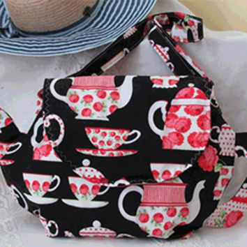 Pretty Roses Large Teapot Shaped Purse - Only 1 Available!