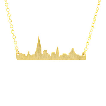 City Skyline Pendant Necklace