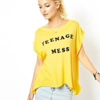Wildfox Teenage Mess Jagged Edge T-Shirt