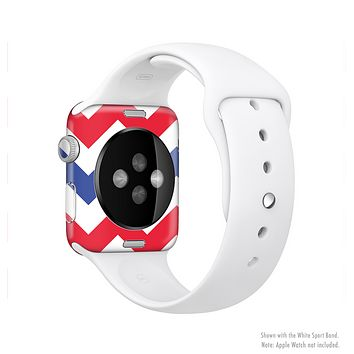 The Patriotic Chevron Pattern Full-Body Skin Kit for the Apple Watch