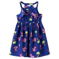 Youngland Flamingo Racerback Dress - Toddler