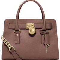 MICHAEL Michael Kors Hamilton Saffiano Leather East West Satchel | macys.com
