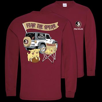 Southern Couture Classic Florida State Jeep Long Sleeve T-Shirt