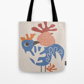 Wondering Rooster Tote Bag by Mirimo