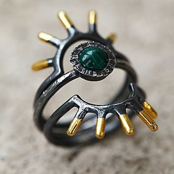 Acanthus Jewelry Womens Radial Ring Set