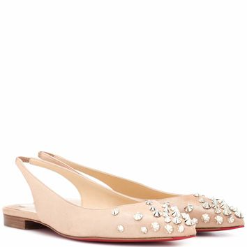 Drama Sling suede ballet flats
