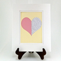 Heart Cutout with Custom Text -Paper Wall Art - Anniversary Gift - Wedding Gift- For Her or Him