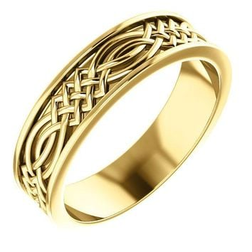Matthew Celtic-Inspired Wedding Band