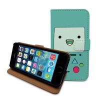 Beanbeancase Beemo Adventure Time Flip Pu Leather Cover Case for iPhone 6 (R24)