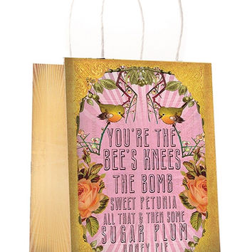 Bee's Knees Floral Gift bag
