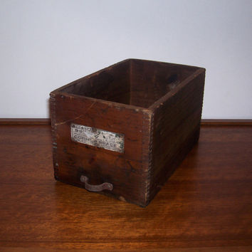 Vintage Antique Stanley Tool Old Dovetail Wood Box by BarnFly