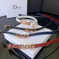 Dior tide brand fashion men and women belt belt F
