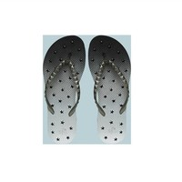 Showaflops - Women's Antimicrobial Shower Sandal - Ombre Stars Shower Shoes College