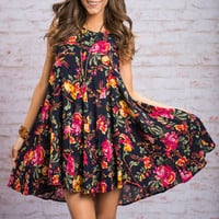 Growing Garden Dress, Navy