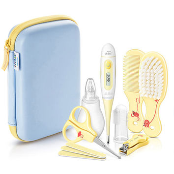 Newborn Baby Healthcare Kit Baby Digital Thermometer Nnasal Aspirator Complete Nail Care Set And Hair Care Baby Care Kits
