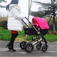 RU 5 Colour Four Wheels Single Seat 2015 New Design Luxury Baby Stroller 3 in 1
