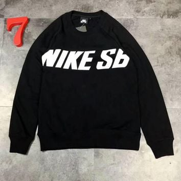 NIKE Cotton round neck long-sleeved sweater street men and women lovers section G-A-GHSY-1