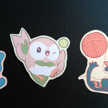 Sun & Moon starters stickers