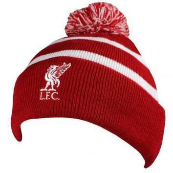 Liverpool FC Red and White Knitted Ski Hat