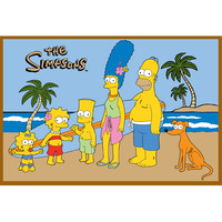 L.A. Rug SIM-TSC-004 3147 Simpsons High Pile At The Beach Rectangular: 2 Ft. 7 In. x 3 Ft. 11 In. Rug - (In Rectangular)