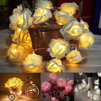 20 LED Rose Flower String Lights for Wedding Xmas Party Christmas Decoration CC