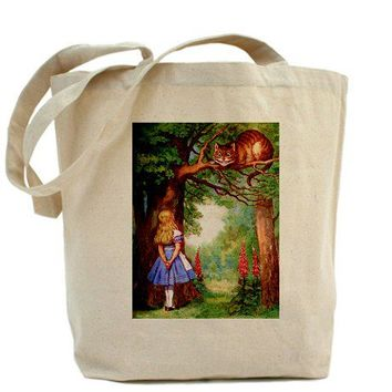 ALICE & THE CHESHIRE CAT Tote Bag by WONDERLAND_SHOP