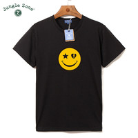 Funny T Shirt Plus Size Casual T-Shirt Men Homme Camiseta Tshirt New Smiling Face Pattern
