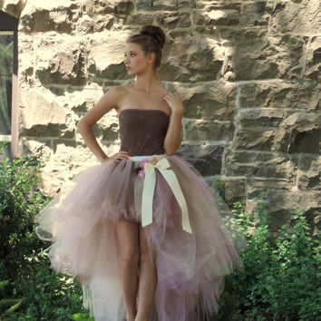 Adult tutu high low tutu bridal tutu prom tutu adult tutu dress wedding tutu engagement photo dress senior portrait photo dress