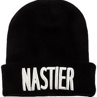 Beauty Forever Hat Nastier Beanie Exclusive in Black