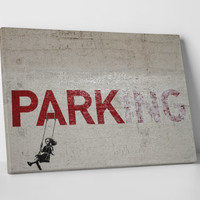 Parking by Banksy Gallery Wrapped Canvas Print