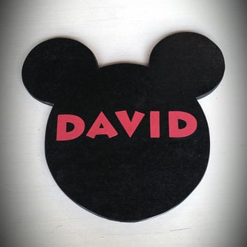 Mickey Mouse Name Plaque