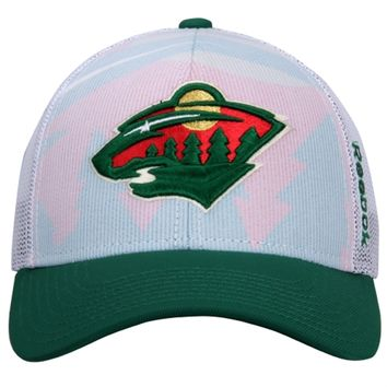 Mens Minnesota Wild Reebok White 2014 NHL Draft Adjustable Hat