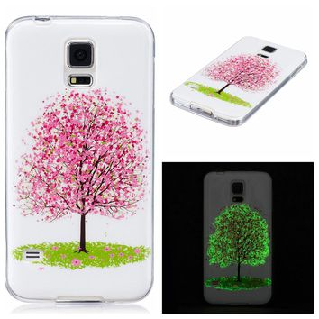 Cool Luminous Case For Samsung Galaxy S6 S7 edge S5 Funda Ultra Thin Clear Soft TPU Skin Cover Fashion Embossed Shell Glow Dark