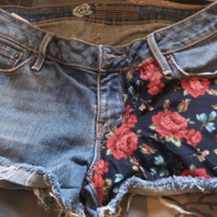 Red/Blue Floral Shorts : )