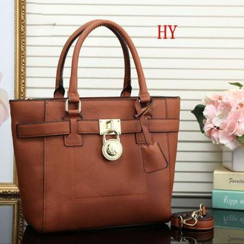 DCCKJ3V MK Women Fashion Leather Satchel Tote Shoulder Bag Handbag Crossbody-6