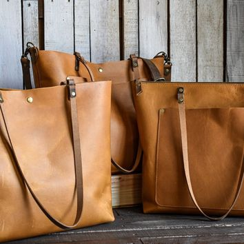 Classic Leather Tote Bag