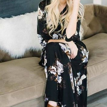 EVERLY London Floral Maxi Dress