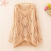 Over Size Knit Sweater for Women Pink