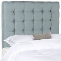Lamar Slate Blue Tufted Headboard Twin