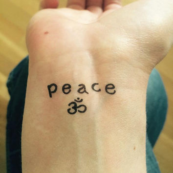 Temporary Tattoo | Peace OM | Yoga Tattoo Art | Yoga Tattoo | Wrist Tattoo | Fun Tattoo | Tattoo | Yoga | handmade by misssfaith